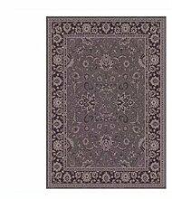 Rollsnownow Moderne einfache abstrakte Teppich Matte Matte Tür Matratze Couchtisch Teppich braun Polypropylen Material geschnitzt Muster rechteckig 170 * 120 cm High-End-Qualität High-Density-Bett Pedal 1 cm dick Wohnzimmer Zubehör Sofa großen Teppich