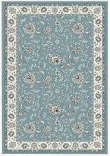 Rollsnownow Moderne Retro, um die alten Teppichmatten in die Türmatten Couchtisch Teppich blau gemischtes Material rechteckig 120 * 90 cm High-End-Qualität High-Density-Bett Pedal 1 cm dick Wohnzimmer Zubehör Sofa großen Teppich zu tun