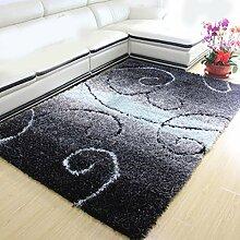 Rollsnownow Modernes handgemachtes gemischtes Material rechteckig (200 * 140 cm) Steigung Farbe Teppich Wohnzimmer Teppich Couchtisch Teppich Teppich