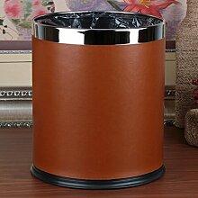 Rollsnownow Orange Büro Mülleimer Startseite Hotel Zimmer Doppel Mülleimer Küche Badezimmer Wohnzimmer Nein Abdeckung Mülleimer Doppelschicht Metall Mülleimer
