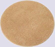 Rollsnownow Runder Teppich gemischtes Material Kamel rund 100 * 100 cm Normallack Muster dick und weich 1,8 cm dick modernen Stil