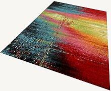 Rollsnownow Wohnzimmer Schlafzimmer Teppich Tür Matratze Couchtisch Teppich Buntes anderes Material Buntes Muster Rechteck 200 * 140cm Weiche und bequeme Anti-Rutsch-Fuß-Pad 0.8cm dicke Wohnzimmer Zubehör Sofa großen Teppich abstrakten Stil