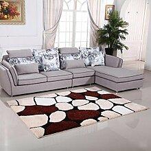 Rollsnownow Wohnzimmer Schlafzimmer Tür Matte Matte Teppich Mischung Farbe Polyester Material gemischte Muster rechteckig 120 * 170 cm Anti-Skid Fußpolster 2 cm dick Wohnzimmer Zubehör Sofa großen Teppich einfachen modernen Stil