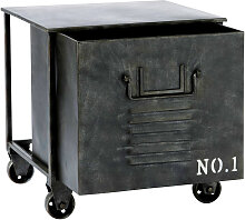 Rolltisch im Industrial-Stilaus Metall, B 39cm