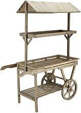 Rollwagen aus Tannenholz