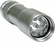 Rolson Taschenlampe mit 9LEDs aus Aluminium
