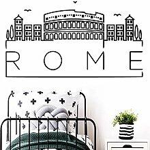 Rom Karte wandkunst Aufkleber wandbilder