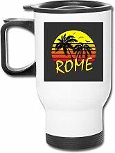 Rom Vintage Sun Doppelwandiger Vakuum-Kaffeebecher