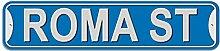 Roma Schild–Kunststoff Wand Tür Street Road weiblich Name, plastik, blau, Stree