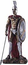 Roman Warrior Statue, Vintage Soldat Skulptur