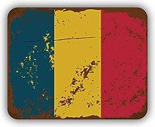 Romania Flag Retro Vintage - Self-Adhesive Sticker