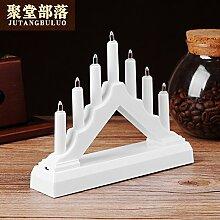 Romantische Dekoration führte elektronische Kerze Lampe 16 * 13cm