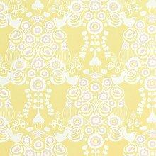 Romantische Design-Tapete - New Barock - mit großflächigen Ornamenten - sehr detailverliebt und romantisch mit verstecktem Vogeldekor- Vliestapete 10,05 x 0,53 m (Länge x Breite) - Gerader Ansatz - glatte Oberfläche - Stil: Ornament und Tiere - ideal für Ihr Wohnzimmer, Schlafzimmer oder ein Ladengeschäft - Farbe: Hellgelb, Rosa, Cremeweiß, Pastell
