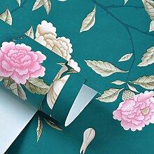 Romantische Garten Blume Tapete/moderne chinesische Tapete/Blume Tapete/Schlafzimmer Wohnzimmer Tapete/[TV Hintergrundbild]-D