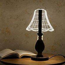 Romantische Geschenkideen LED Nacht Stereoskopische 3D-visuelle Lampe Eine Dimmbare Lampe Schlafzimmer