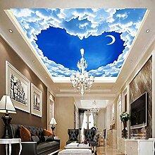 Romantische herzförmige blaue Himmel weiße