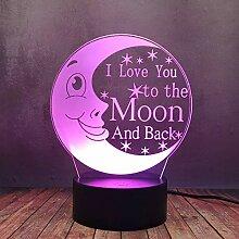 Romantische Kinder-Mondlampe Illusion,