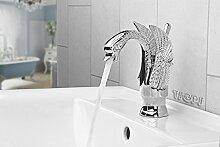 Romantische Retro Badarmatur Einhebel Waschbecken Waschtisch Schwan in Chrom