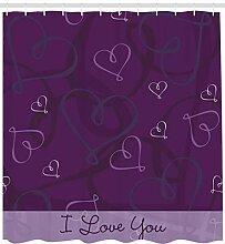 Romantischer lila Herzdruck des Indigos Badezimmer