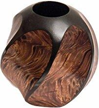 ROMBOL Vase, Holzvase, Höhe 15 cm, Designvase,