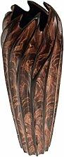 ROMBOL Vase, Holzvase, Höhe 35,5 cm, Designvase,