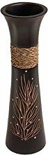 ROMBOL Vase, Holzvase, Höhe 35 cm, Design 6,