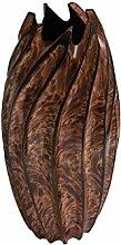 ROMBOL Vase, Holzvase, Höhe 36 cm, Designvase,