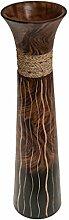 ROMBOL Vase, Holzvase, Höhe 51 cm, Deko,