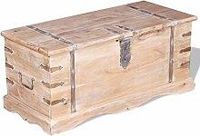 ROMELAREU Aufbewahrungstruhe Akazienholz Möbel