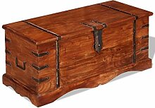 ROMELAREU Aufbewahrungstruhe Massivholz Möbel