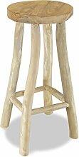 ROMELAREU Barhocker Teak Braun Möbel Stühle