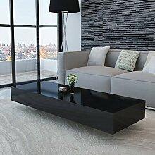 ROMELAREU Couchtisch Hochglanz Schwarz Möbel