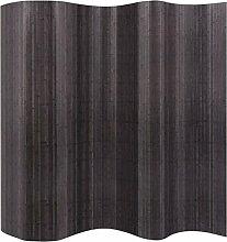 ROMELAREU Raumteiler Bambus Grau 250 x 195 cm