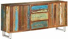 ROMELAREU Sideboard Altholz Massiv 160 x 40 x 76