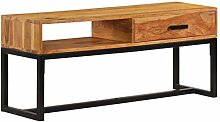 ROMELAREU Sideboard Massivholz Akazie 110 x 30 x