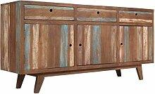 ROMELAREU Sideboard Massivholz Vintage 145 x 40 x