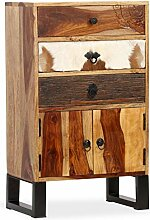 ROMELAREU Sideboard Sheesham-Holz Massiv 50 x 30 x
