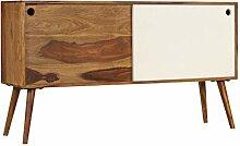 ROMELAREU Sideboard Sheeshamholz Massiv 118 x 30 x