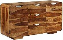 ROMELAREU Sideboard Sheeshamholz Massiv 145x40x75