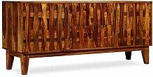 ROMELAREU Sideboard Sheeshamholz Massiv 160 x 45 x