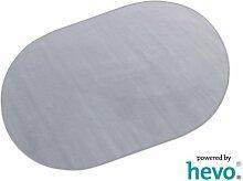 Romeo grau HEVO® Teppich   Kinderteppich   Spielteppich 200x280 cm Oval
