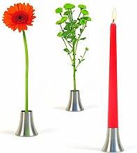 Romeo & Julia - Kerzenständer und Vase in Einem aus Edelstahl von xxd design