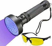 ROMER UV Schwarzlicht Taschenlampe mit 100 LED -