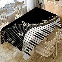 RONGER Tischdecke Piano Music Pattern Tischdecke