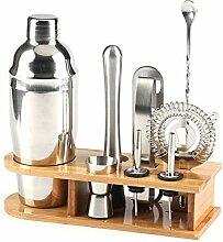 RONGRONG 10pcs Edelstahl Bar Cocktail Shaker Set