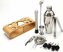 RONGRONG 12pcs Edelstahl Bar Cocktail Shaker Set