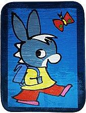 Room Studio 530111UltraSoft trotro Fussbodenmatte Dekoration Velours blau 2x 100x 70cm