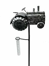Roomando Gartenstecker Traktor Metallstecker