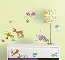 RoomMates 54347 RM - Dekosticker Waldtiere Baby