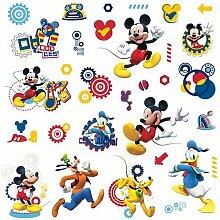 RoomMates RM - Disney Micky Maus Wandtattoo, PVC,